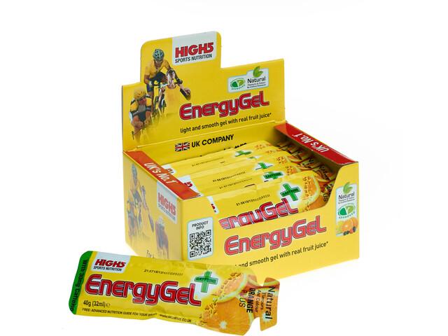 High5 EnergyGel Plus Box 20x40g Orange